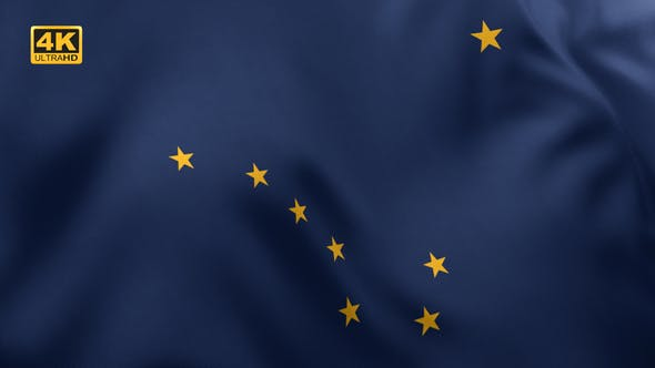 Alaska State Flag - 4K