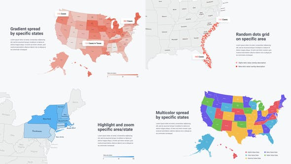 Thumbnail for USA Map Infographics