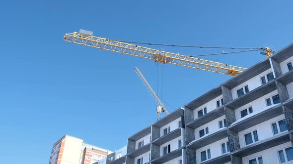 Thumbnail for Construction of a Multi-storey Building. Construction Crane