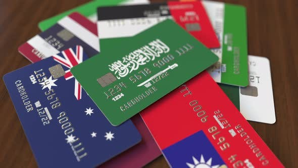 Thumbnail for Emphasized Bank Card with Flag of Saudi Arabia