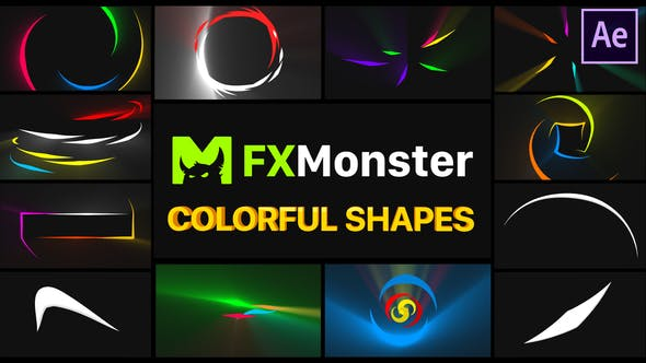 Thumbnail for Colorful Shapes | After Effects