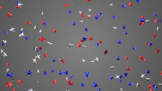 Red White Blue Stars Falling  Overlay