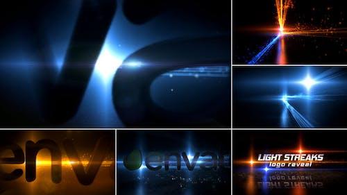 Light Streaks Logo Reveal