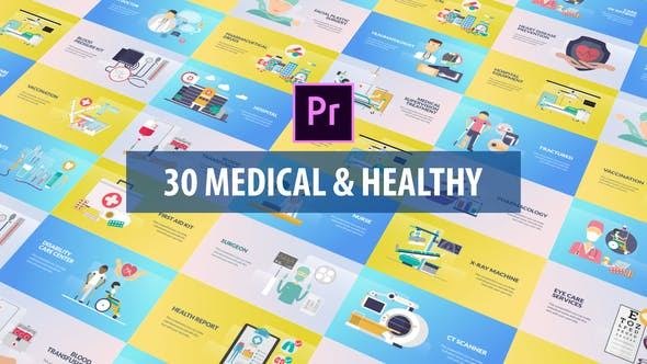 Thumbnail for Medical and Healthy Animation | Premiere Pro MOGRT