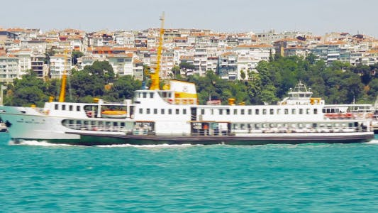 Thumbnail for Istanbul Ferry Passing From Right To Left