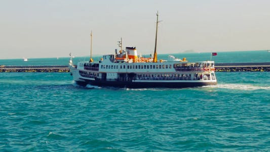 Thumbnail for Istanbul Ferry Floating Away In Bosphorus