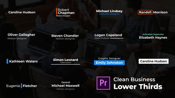Thumbnail for Clean Business Lower Thirds - For Premiere Pro