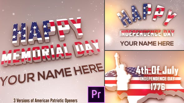 Thumbnail for USA Patriotic Openers Pack - Premiere Pro