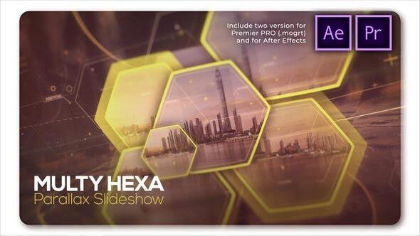 Thumbnail for Parallax Slideshow Multi Hexa