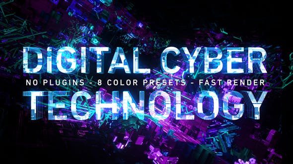 Thumbnail for Digital Cyber Technology Logo Reveal. 8 Color Presets.