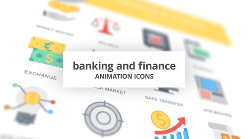 Banking and Finance - Animation Icons