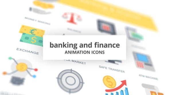 Thumbnail for Banking and Finance - Animation Icons