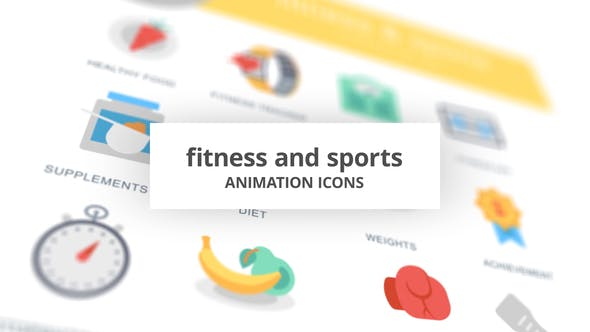 Thumbnail for Fitness and Sports - Animation Icons