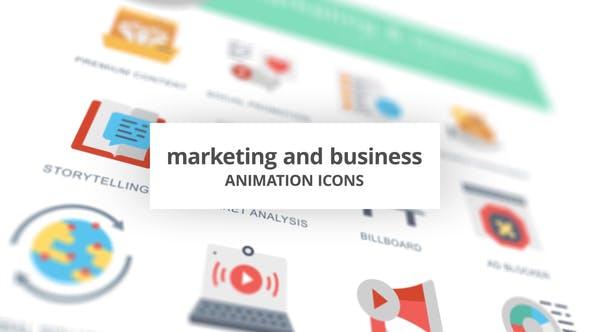 Thumbnail for Marketing y Negocios - Íconos de animación