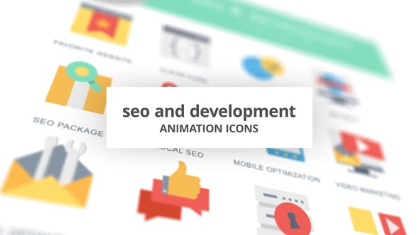 Thumbnail for SEO and Development - Animation Icons