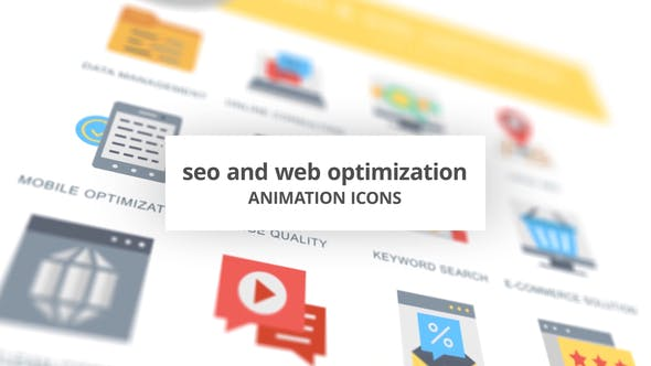 Thumbnail for SEO and Web Optimization - Animation Icons