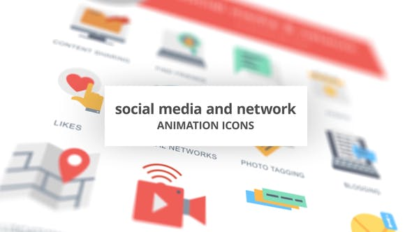 Thumbnail for Social Media and Network - Animation Icons