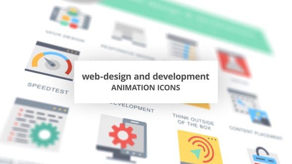 Web-Design and Development - Animation Icons