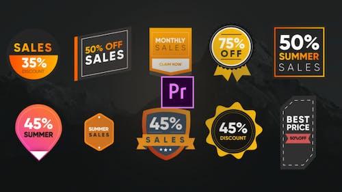Colorful Sales Badges- Premiere Pro