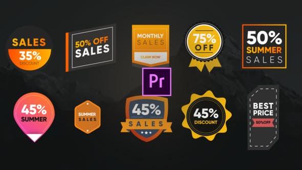 Thumbnail for Colorful Sales Badges- Premiere Pro