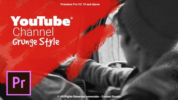 Thumbnail for Chaîne YouTube Style Grunge pour Premiere Pro