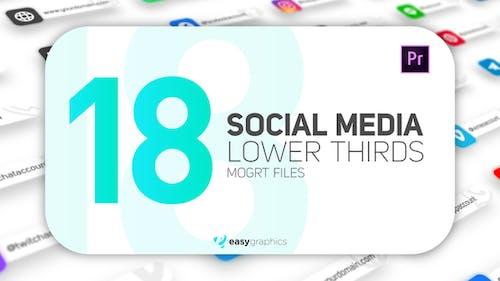 Modern Social Media Lower Thirds
