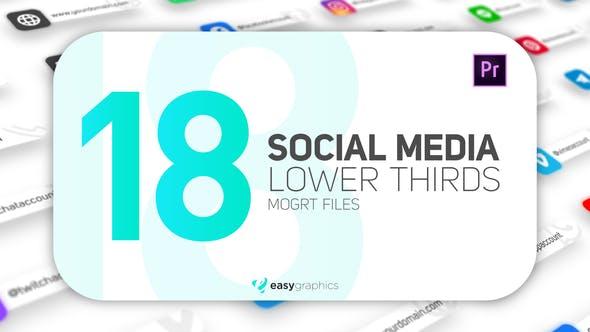 Thumbnail for Modern Social Media Lower Thirds