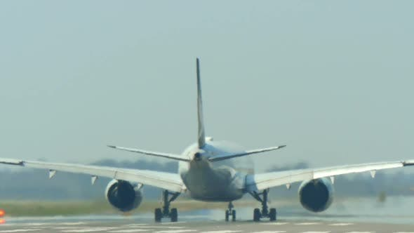 Thumbnail for Commercial Airliner Taking off at Barcelona International Airport