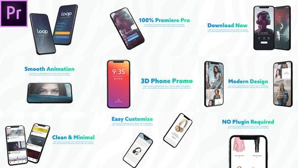 Thumbnail for 3D Smartphone Presentation for Premiere Pro