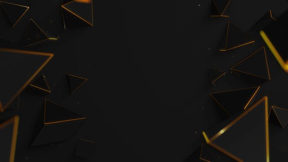 Gold Polygon Abstract