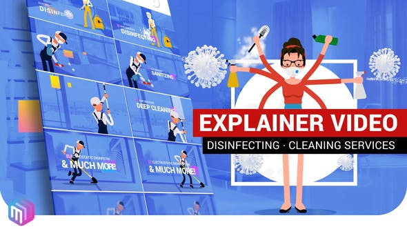 Thumbnail for Explainer Video | Disinfection, Cleaning services