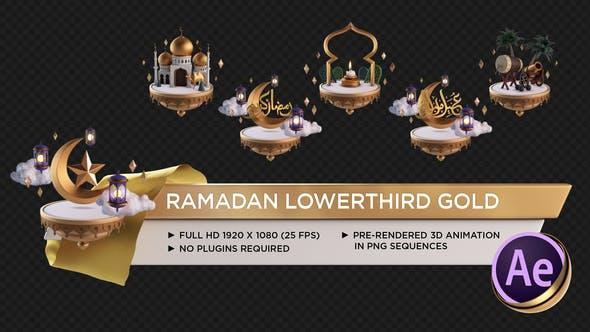 Thumbnail for Ramadan Lower Third Gold