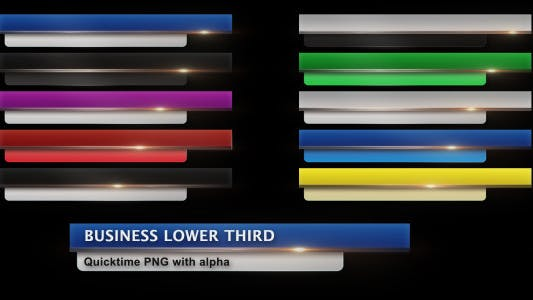 Thumbnail for Business Lower Third