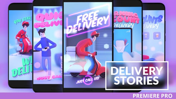 Thumbnail for Food Delivery Instagram Stories for Premiere