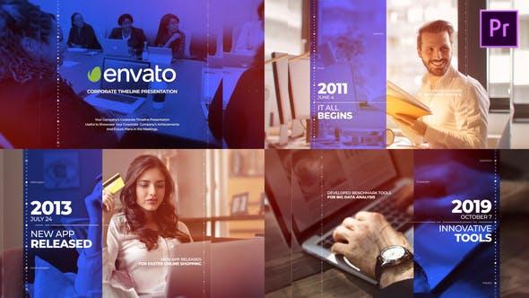 Thumbnail for Corporate Timeline Presentation Mogrt