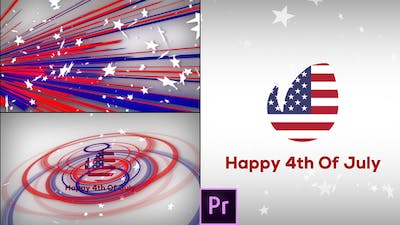 Fresh & July 4th Patriotic Logo Opener - Premiere Pro