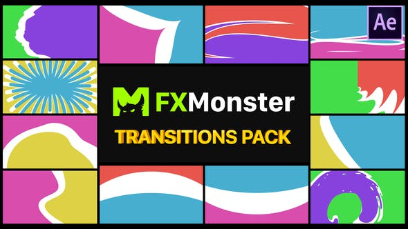 Thumbnail for Pack Transitions Colorées | After Effects