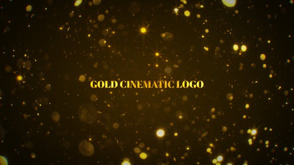 Thumbnail for Logo Cinemática Gold Mogrt