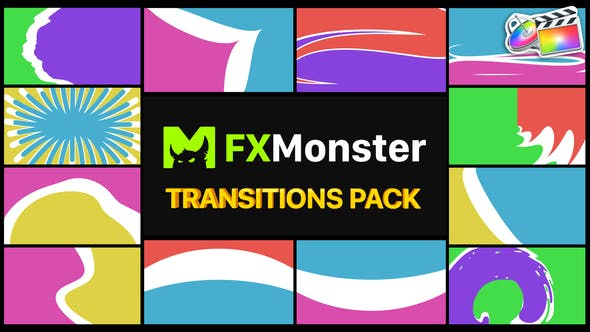 Thumbnail for Colorful Transitions Pack | FCPX