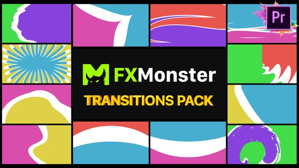 Thumbnail for Colorful Transitions Pack | Premiere Pro MOGRT