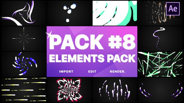 Thumbnail for Flash FX Elements Pack 08 | After Effects