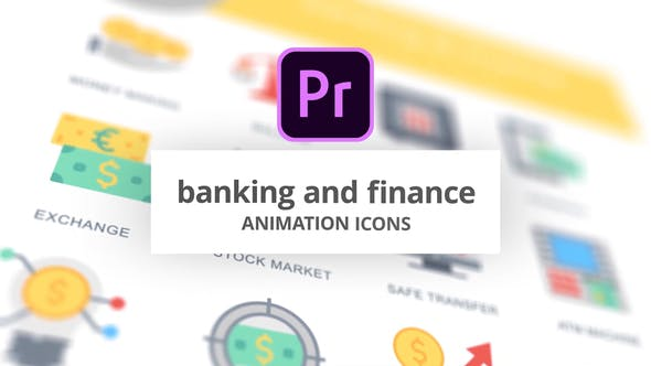 Thumbnail for Banking and Finance - Animation Icons (MOGRT)