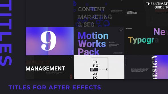 Thumbnail for Typography Pack Titles