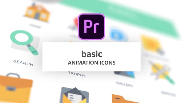 Thumbnail for Basic - Animation Icons (MOGRT)