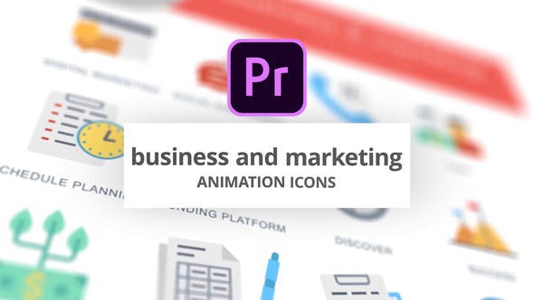 Business and Marketing - Animation Icons (MOGRT)