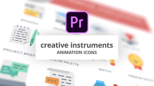 Thumbnail for Instruments créatifs - Icones d'animation (MOGRT)