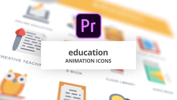 Thumbnail for Education - Animation Icons (MOGRT)