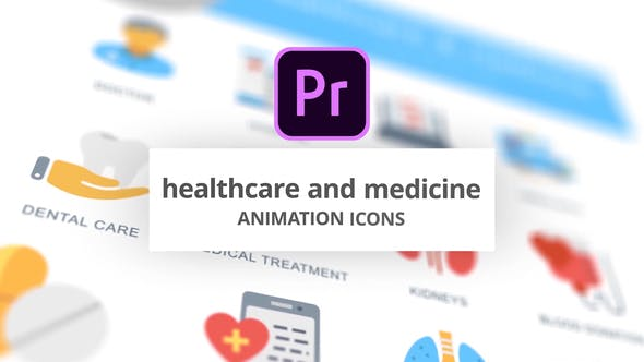 Thumbnail for Healthcare and Medicine - Animation Icons (MOGRT)