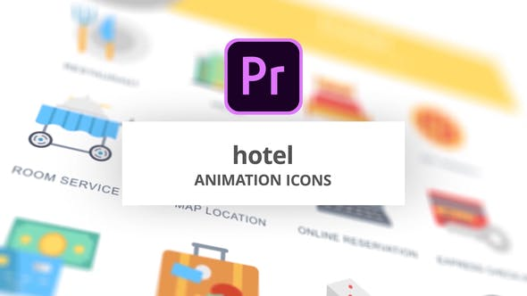 Thumbnail for Hotel - Animation Icons (MOGRT)