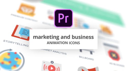 Marketing and Business - Animation Icons (MOGRT)